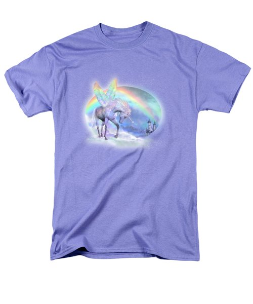 Unicorn Of The Rainbow Men's T-Shirt  (Regular Fit) by Carol Cavalaris