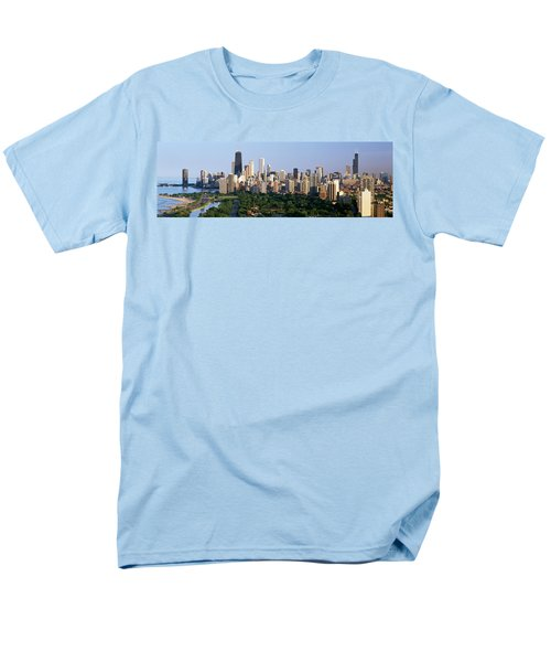 Buildings In A City, View Of Hancock Men's T-Shirt  (Regular Fit) by Panoramic Images