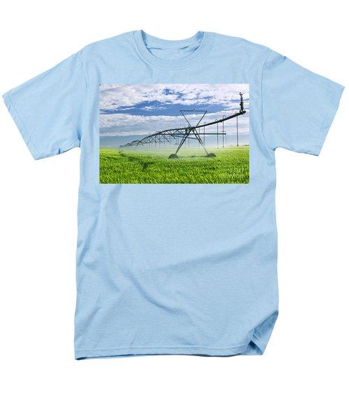 Irrigation equipment on farm field T-Shirt by Elena Elisseeva