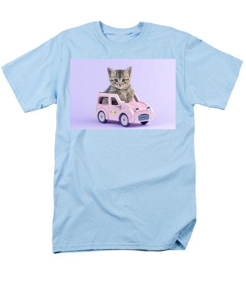 Kitten In Pink Car T-Shirt by Greg Cuddiford