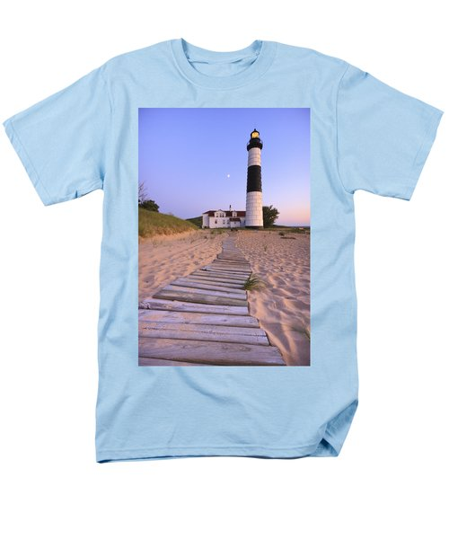 Big Sable Point Lighthouse Men's T-Shirt  (Regular Fit) by Adam Romanowicz