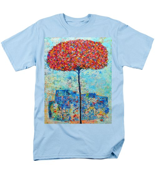 BLOOMING BEYOND KNOWN SKIES - THE TREE OF LIFE - ABSTRACT CONTEMPORARY ORIGINAL OIL PAINTING T-Shirt by ANA MARIA EDULESCU