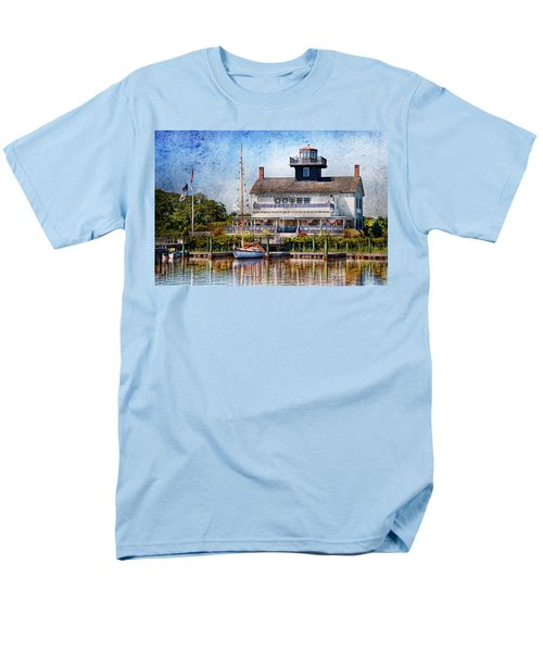 Boat - Tuckerton Seaport - Tuckerton Lighthouse T-Shirt by Mike Savad