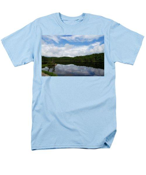 Calm Lake - Turbulent Sky T-Shirt by Georgia Mizuleva