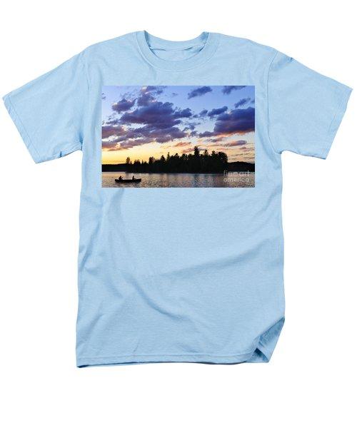 Canoeing at sunset T-Shirt by Elena Elisseeva