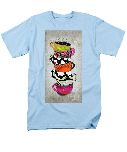 Colorful Coffee Cups Mugs Hot Cuppa Stacked I by Romi and Megan T-Shirt by Megan Duncanson