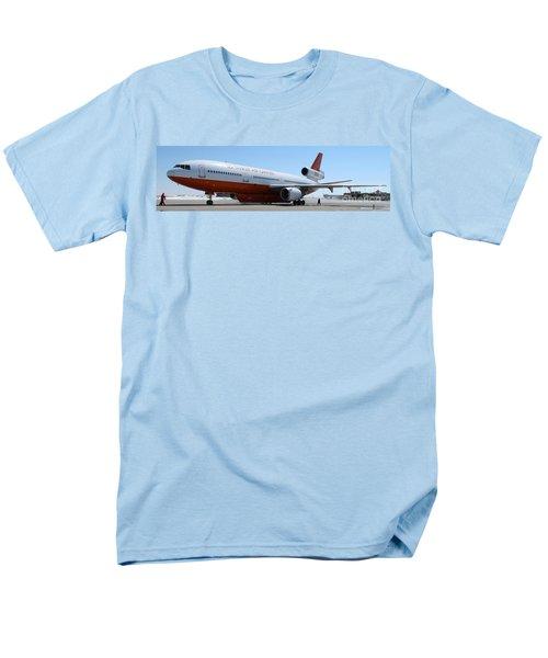 Men's T-Shirt  (Regular Fit) featuring the photograph Dc-10 Air Tanker At Rapid City by Bill Gabbert