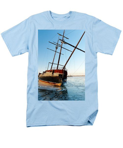 Derelict Faux Tall Ship T-Shirt by Trever Miller