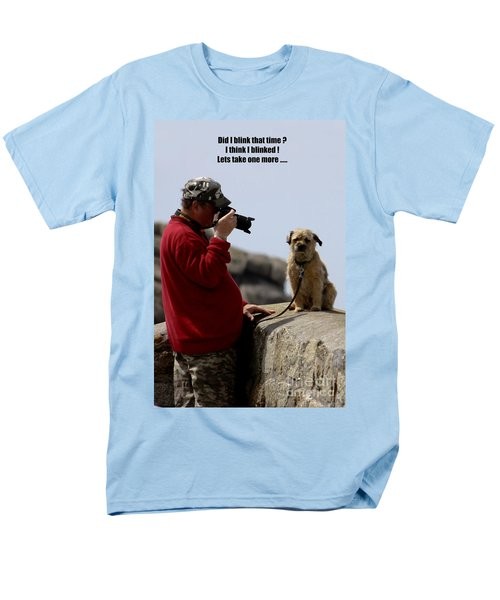 Dog Being Photographed T-Shirt by Terri  Waters