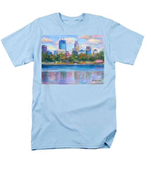 Downtown Minneapolis Skyline from Lake Calhoun T-Shirt by Quin Sweetman