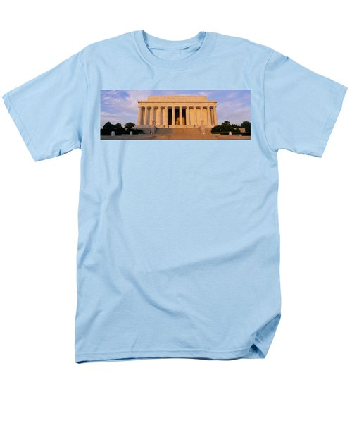 Facade Of A Memorial Building, Lincoln Men's T-Shirt  (Regular Fit) by Panoramic Images