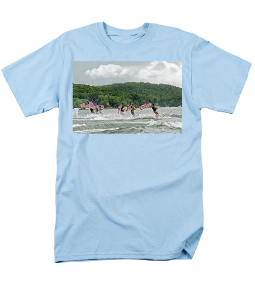 Fourth of July Water Skiers T-Shirt by Susan Leggett