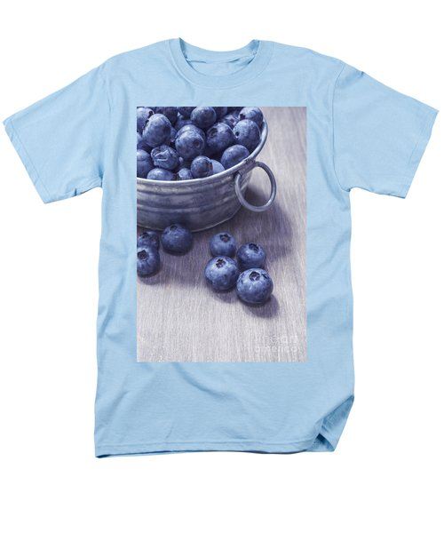 Fresh picked blueberries with vintage feel T-Shirt by Edward Fielding
