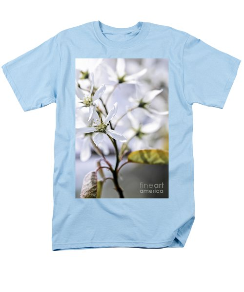 Gentle white spring flowers T-Shirt by Elena Elisseeva