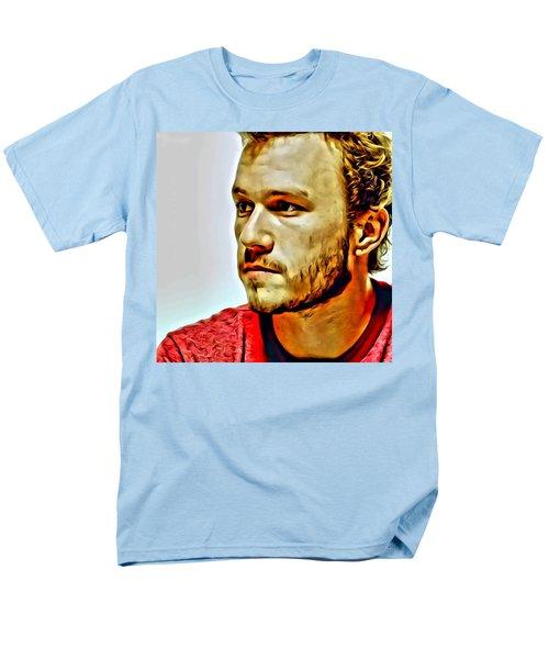 Heath Ledger Portrait Men's T-Shirt  (Regular Fit) by Florian Rodarte