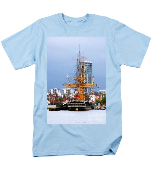 HMS Warrior Portsmouth T-Shirt by Terri  Waters