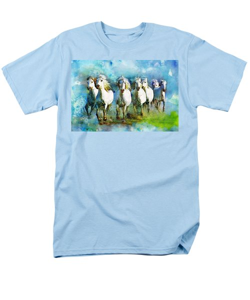 Horse Paintings 005 T-Shirt by Catf