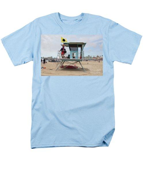 Lifeguard Shack At The Santa Cruz Beach Boardwalk California 5D23711 T-Shirt by Wingsdomain Art and Photography