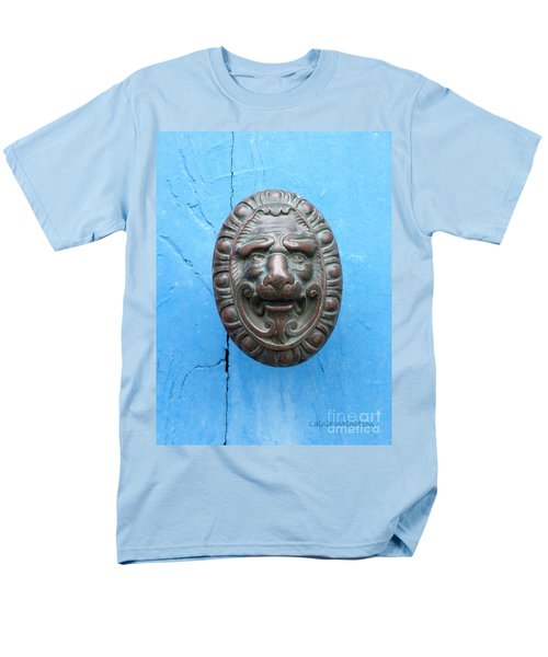 Lion Face Door Knob T-Shirt by Lainie Wrightson