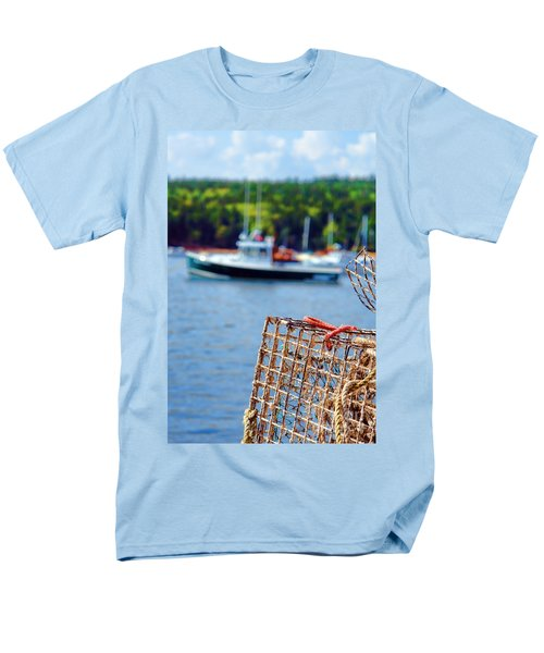 Lobster Trap in Maine T-Shirt by Olivier Le Queinec