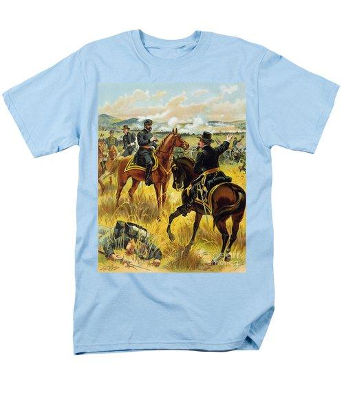 Major General George Meade At The Battle Of Gettysburg Men's T-Shirt  (Regular Fit) by Henry Alexander Ogden
