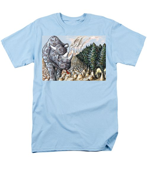 Money Against Nature - Cartoon Art Men's T-Shirt  (Regular Fit) by Art America Online Gallery