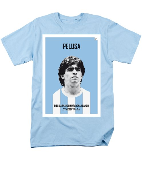 My Maradona Soccer Legend Poster Men's T-Shirt  (Regular Fit) by Chungkong Art