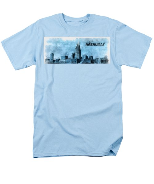 Nashville Tennessee In Blue Men's T-Shirt  (Regular Fit) by Dan Sproul