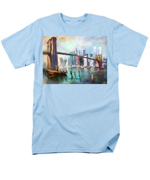 NY City Brooklyn Bridge II T-Shirt by Ylli Haruni