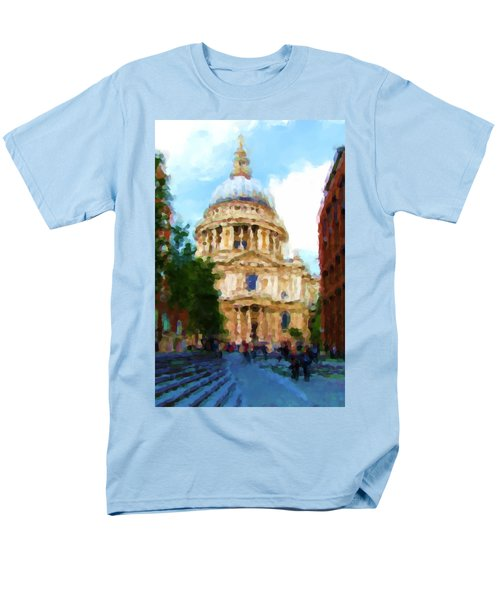 On The Steps Of Saint Pauls Men's T-Shirt  (Regular Fit) by Jenny Armitage