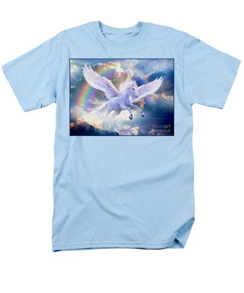 Rainbow Pegasus Men's T-Shirt  (Regular Fit) by Jan Patrik Krasny