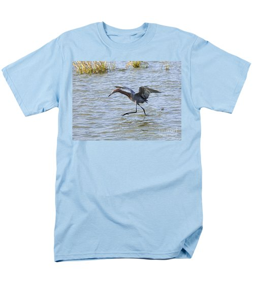 Reddish Egret canopy feeding T-Shirt by Louise Heusinkveld