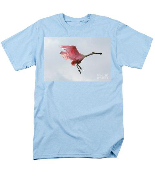 Roseate Spoonbill In Flight Men's T-Shirt  (Regular Fit) by Carol Groenen