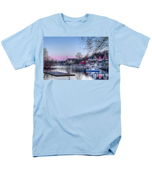Schuylkill River and Boathouse Row Philadelphia T-Shirt by Bill Cannon