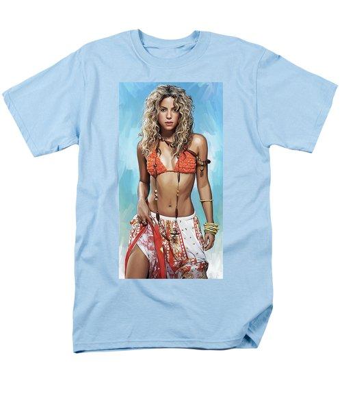 Shakira Artwork Men's T-Shirt  (Regular Fit) by Sheraz A