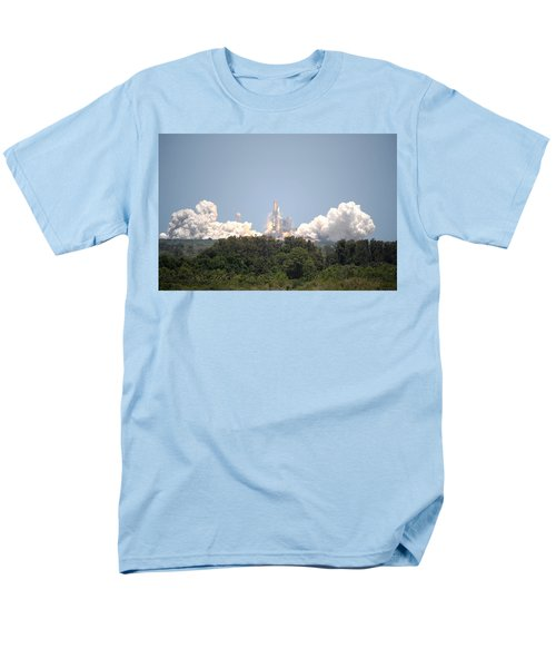 Men's T-Shirt  (Regular Fit) featuring the photograph Sts-132, Space Shuttle Atlantis Launch by Science Source