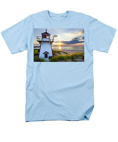 Sunset at Covehead Harbour Lighthouse T-Shirt by Elena Elisseeva