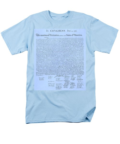 THE DECLARATION OF INDEPENDENCE in CYAN T-Shirt by ROB HANS