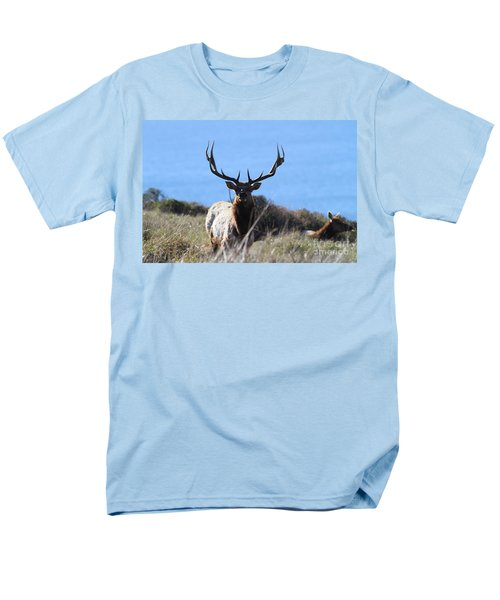Tules Elks of Tomales Bay California - 7D21201 T-Shirt by Wingsdomain Art and Photography