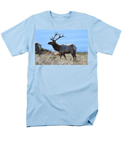 Tules Elks of Tomales Bay California - 7D21218 T-Shirt by Wingsdomain Art and Photography