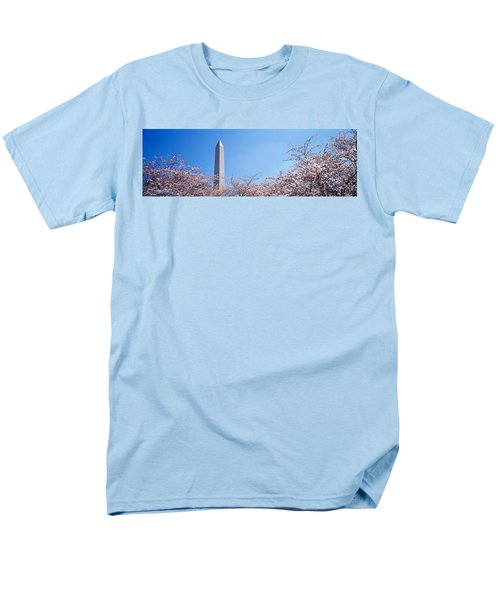 Washington Monument Behind Cherry Men's T-Shirt  (Regular Fit) by Panoramic Images