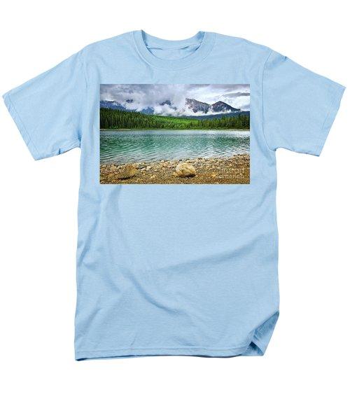 Mountain lake in Jasper National Park T-Shirt by Elena Elisseeva