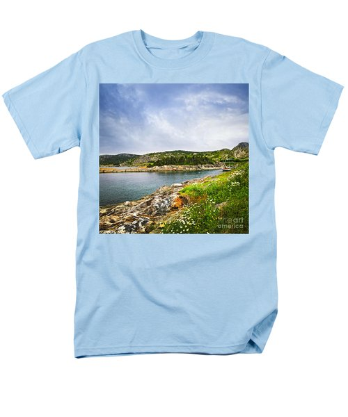 Atlantic coast in Newfoundland T-Shirt by Elena Elisseeva