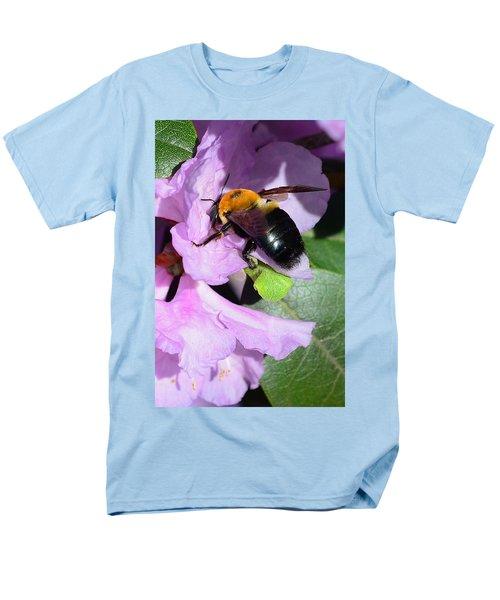 Bee on Azalea Bloom T-Shirt by Lisa  Phillips
