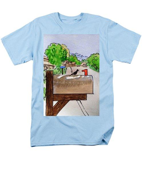 Bird on the Mailbox Sketchbook Project Down My Street T-Shirt by Irina Sztukowski