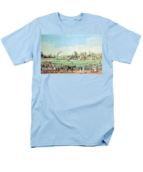 Cotton Plantation On The Mississippi T-Shirt by Photo Researchers