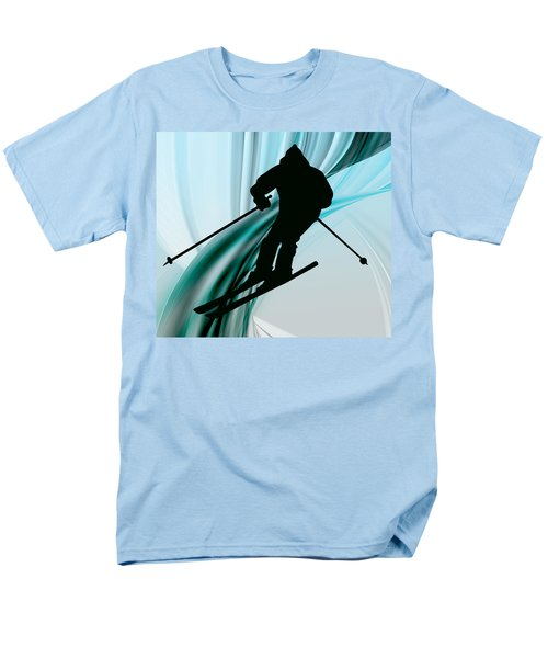 Downhill Skiing on Icy Ribbons T-Shirt by Elaine Plesser