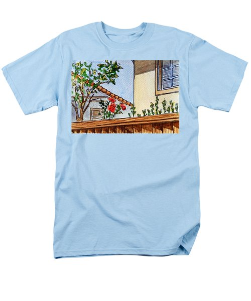 Fence And Roses Sketchbook Project Down My Street T-Shirt by Irina Sztukowski
