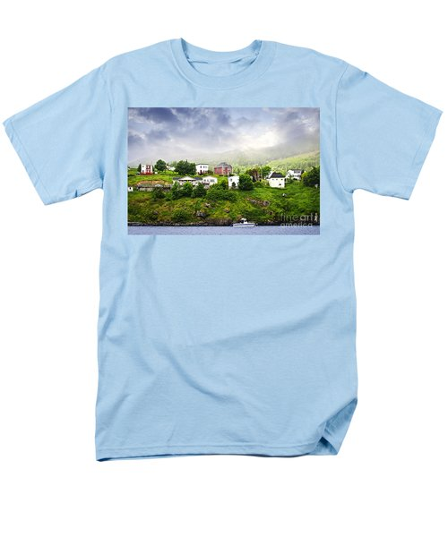 Fishing village in Newfoundland T-Shirt by Elena Elisseeva