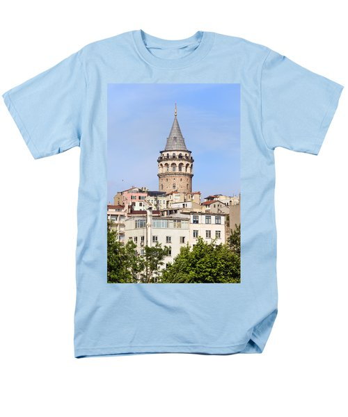 Galata Tower in Istanbul T-Shirt by Artur Bogacki